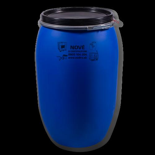 Uzatváratelný plastový sud 220 litrov